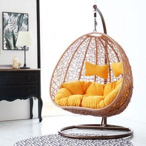 채우리 푹쉼 폼페이 2인용 컴팩트 라탄 그네 의자, 그린